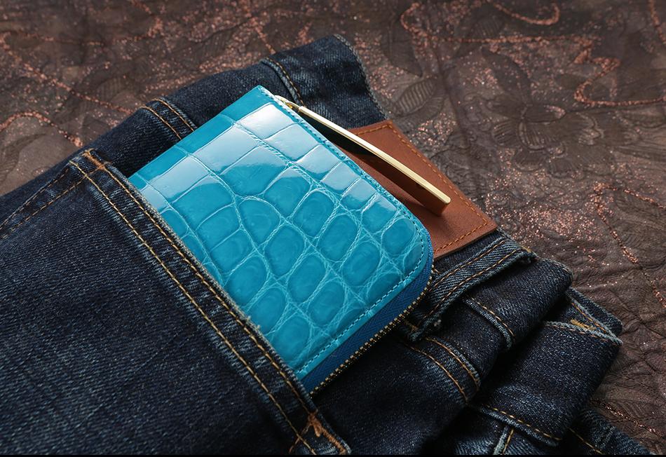 持つだけでおしゃれに見える、メンズ財布ブランド 池田工芸 クロコダイル ミリオンウォレット