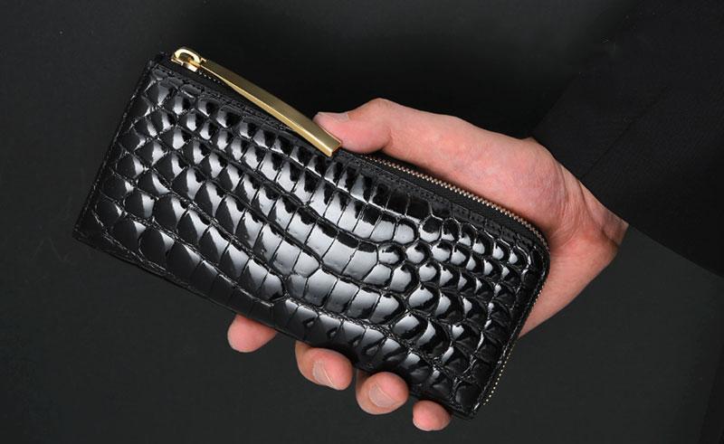 センスの良いおしゃれなブランド財布 池田工芸 クロコダイル L字ロングウォレット