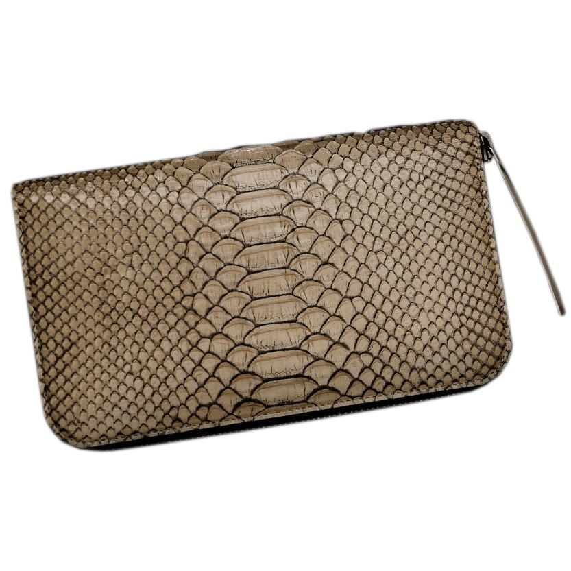 メンズ長財布の革の種類 パイソンレザー長財布