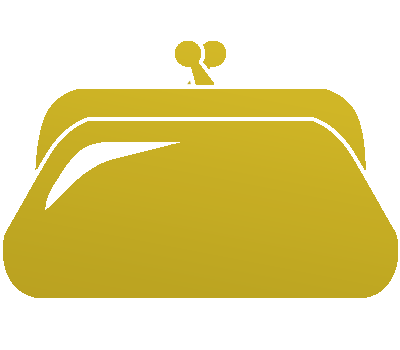 ゴールドの財布アイコン