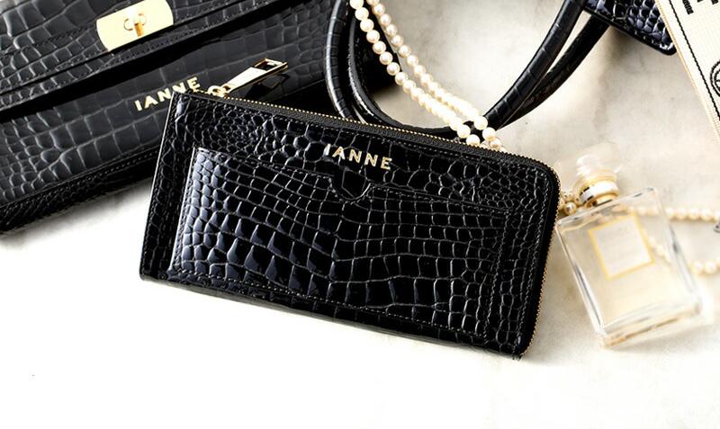 IANNEの黒財布 ナタリーグレッタ