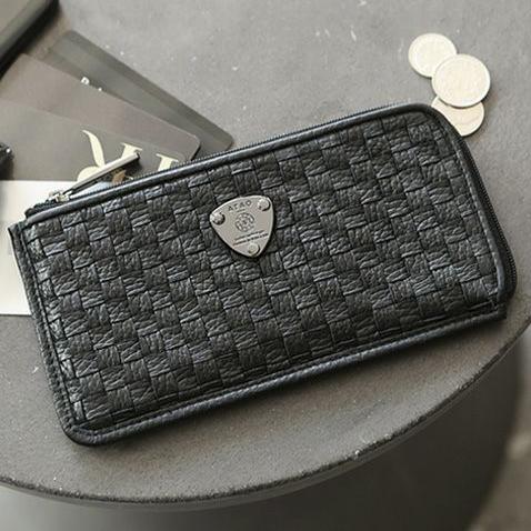 お金を引き寄せ守る黒い財布 ATAO スリモメッシュ