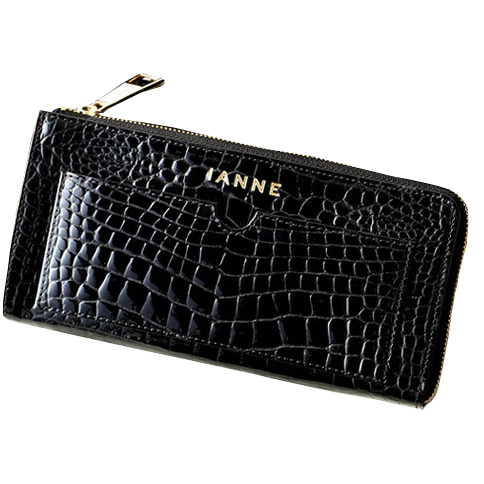 お金を引き寄せ守る黒い財布 IANNE ナタリーグレッタ