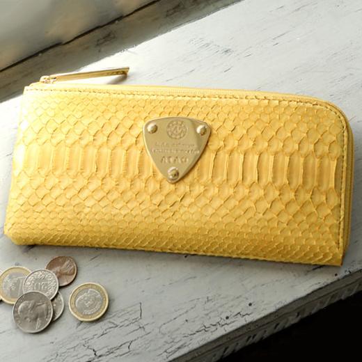 幸せと金運を呼び込む黄色い財布 ATAO リモ パイソン
