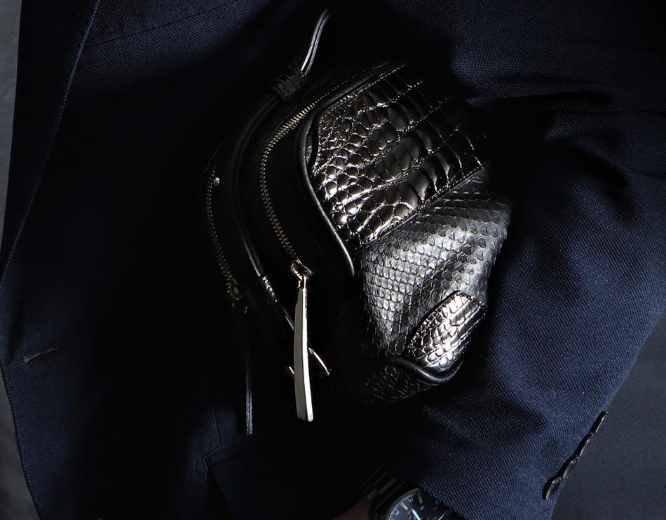 おしゃれな印象を与えるセカンドバッグのおすすめは池田工芸 クロコダイルパイソン バディボストンバッグ
